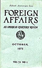 Foreign Affairs Fiftieth Anniversary Issue…