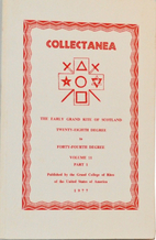Collectanea. Volume 11, Part 1 : The Early…