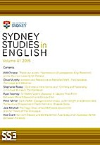 Sydney studies in English by G. A. Wilkes