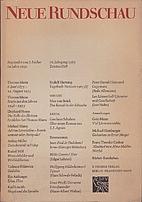 Neue Rundschau. 76. Jahrgang 1965 Zweites…