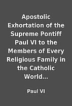 Apostolic Exhortation of the Supreme Pontiff…