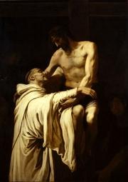 Author photo. <i>Christ and St. Bernard</i> by Francisco Ribalta, early 17th century.