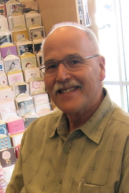 Author photo. Don Strack at bookstore appearance