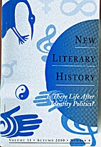New Literary History: A Journal of Theory…