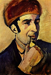 Author photo. Painting by Auguste Macke, 1910
