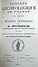 France: 1889, 56e Congrès archéologique de…