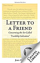 Letter to a Friend by John Piper
