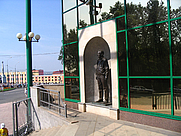 Author photo. Monument to Kalashnikov in Izhevsk. Photo by Wikipedia user <a href=&quot;http://en.wikipedia.org/wiki/User:Unomano?rdfrom=commons:User:Unomano&quot;>Unomano</a>