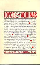 Joyce and Aquinas by William T. Noon