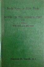 Notes on the Hebrew Text of I Kings,…