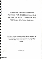 Interim Victorian Government Response to the…
