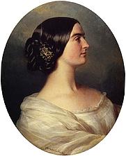 Author photo. Charlotte Stuart, Viscountess Canning 1849, By Franz Xaver Winterhalter