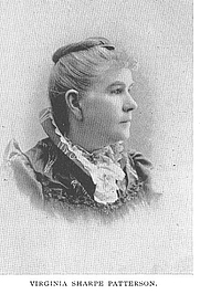 Author photo. Virginia Sharpe Patterson (b.1841), Buffalo Electrotype and Engraving Co., Buffalo, N.Y.