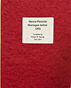 Nance Records Marriages before 1850 by…