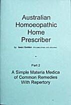 Australian Homeopathic Home Prescriber Part…