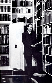Author photo. Frontispiece for the book, Four Oaks Library, published in 1967.