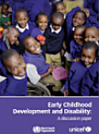 Early Childhood Development and Disability:…