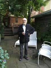 Author photo. Daryl Sharp in the backyard of his house in Toronto on Aug. 20, 2015. Photo by Laura London.