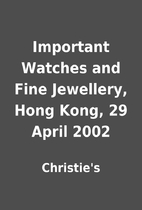 Important Watches and Fine Jewellery, Hong…
