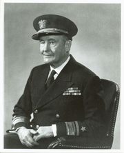 """Author photo. Samuel Eliot Morison (1887-1976) """"Navy file photo of Rear Adm. Samuel Eliot Morison, USNR, the eminent naval and maritime historian and Pulitzer prize winning author."""""""