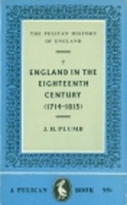 England in the Eighteenth Century by J.H.…