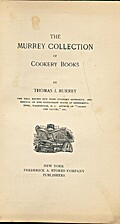 The Murrey Collection of Cookery Books by…