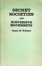 Secret Societies and Subversive Movements by…