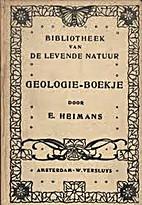 Geologie-boekje by Eli Heimans