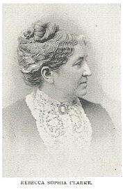 Author photo. Rebecca Sophia Clarke [aka Sophie May] (1833-1906)  Buffalo Electrotype and Engraving Co., Buffalo, N.Y.