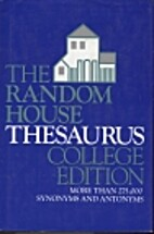 Random House College Thesaurus by Random…