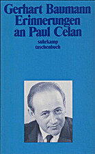 Erinnerungen an Paul Celan (German Edition)…