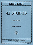 42 Studies for Violin by Rodolphe Kreutzer…