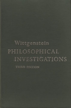 Philosophical Investigations by Ludwig…