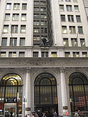 Author photo. American Express building at 65 Broadway, New York, May 2006; photo by <A HREF=&quot;http://www.flickr.com/people/shinythings/&quot;>Shiny Things</A>