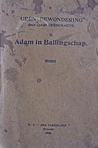 Uren van bewondering II - Adam in…