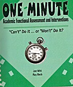 One-Minute Academic Functional Assessment…