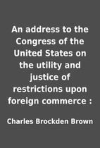 An address to the Congress of the United…