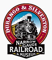 Author photo. Durango and Silverton Narrow Gauge Railroad Museum logo, wikipedia