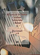 Història de la música catalana, valenciana…