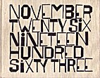 November twenty-six, nineteen hundred…
