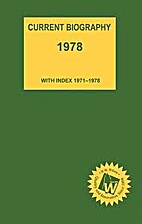 Current Biography 1978(with Index 1971-1978)…