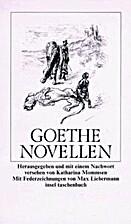 Novellen by Johann Wolfgang von Goethe
