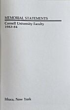Memorial Statements : Cornell University…