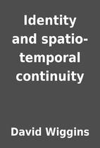 Identity and spatio-temporal continuity by…