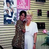 Author photo. The Lady Chablis with Justine Veatch in Nashville