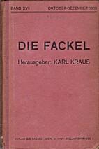 Die Fackel. Band XVII. Oktober-Dezember…