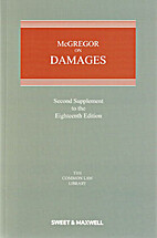 McGregor on Damages: 2nd Supplement (Common…