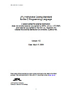 JPL Institutional Coding Standard for the…