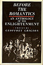 Before the Romantics: An Anthology of the…