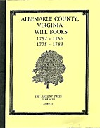 Albemarle County, Virginia Will Books…